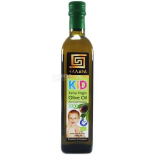 Ellada, 500 мл, масло оливковое, Kid Extra Virgin, стекло