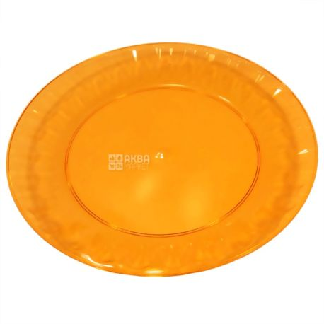 Disposable fiberglass plate, 10 pcs., Diameter 160 mm, TM Promtus