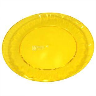 Disposable fiberglass plate, 10 pcs., Diameter 160 mm, TM Promtus