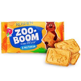 Roshen, 68 г, печенье, Zoo-Boom, С молоком, Для детей, м/у