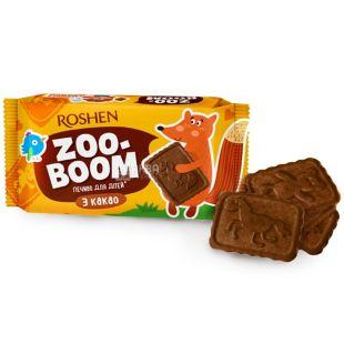Roshen, 68 г, печиво, Zoo-Boom, З какао, Для дітей, м/у