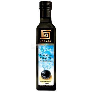 Ellada, 250 мл, масло оливковое, Delicate Extra Virgin, стекло