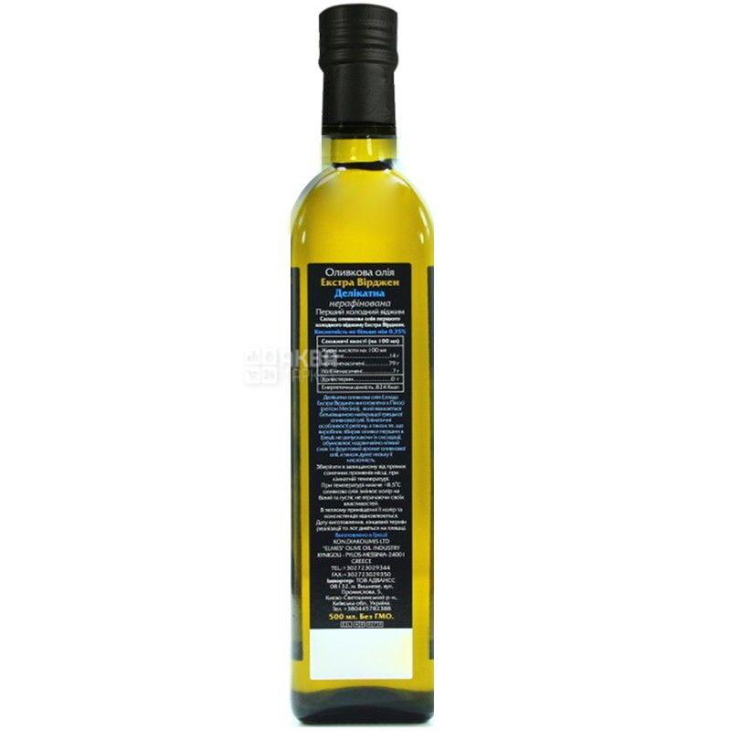 Ellada, 500 мл, Масло оливковое, Delicate, Extra Virgin, стекло