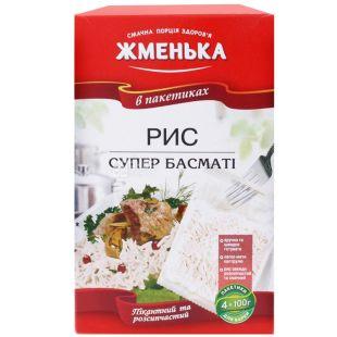 Жменька, 400 г, рис, Супер Басмати, В пакетиках, м/у