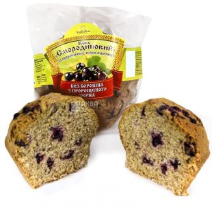 UkrEkoHleb, 200 g, Black currant cake without congenes, With sprouted wheat