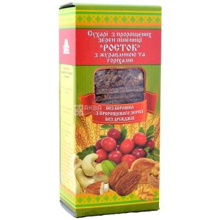 Sprout, 150 g, rusks, From sprouted wheat, With cranberries and nuts, m / s