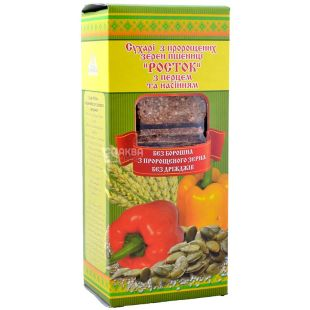 Sprout, 150 g, rusks, From sprouted wheat, With pepper and seeds, m / s