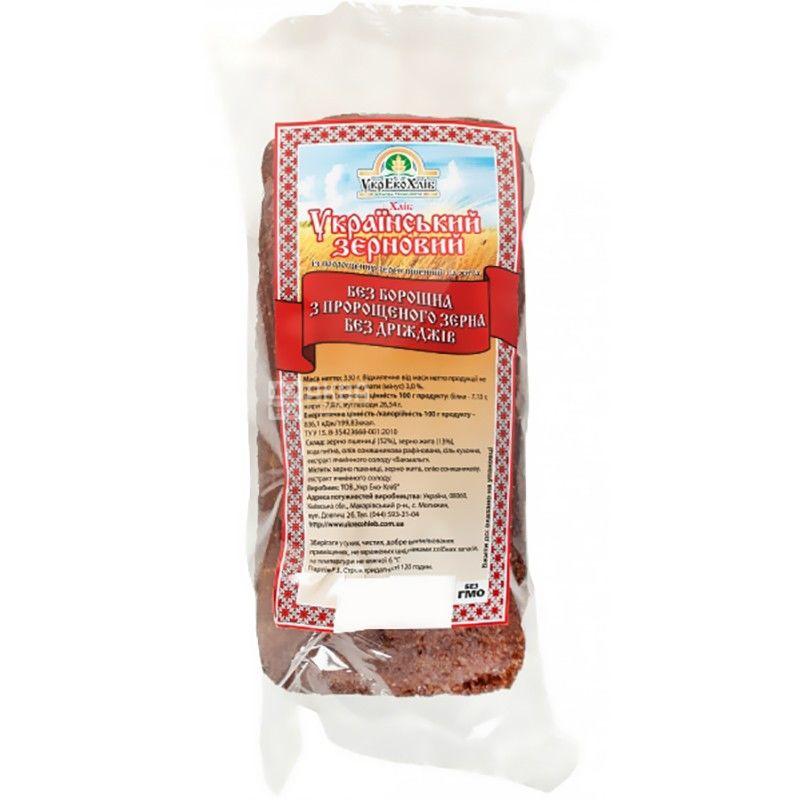 УкрЕкоХліб, 330 г, хліб зерновий,без дріжджів, Український, м/у