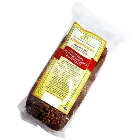 УкрЭкоХлеб, 330 г, хлеб зерновой, Без дрожжей, Зернышко, м/у