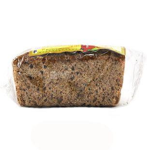 УкрЕкоХліб, 330 г, хліб зерновий, Без дріжджів, Сонечко, З насінням соняшника, м/у
