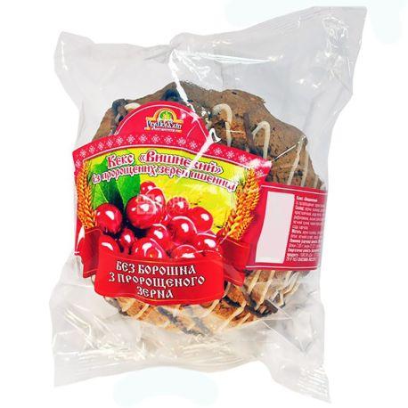 УкрЕкоХліб, 200 г, кекс з пророслої пшениці, Вишневий, м/у