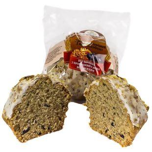УкрЭкоХлеб, 200 г, кекс Грецкий орешек с черносливом бездрождевой, С проросшей пшеницы