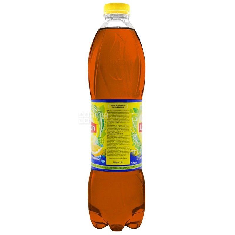 Lipton, 1,5 л, Чай Липтон, холодный, черный, Лимон