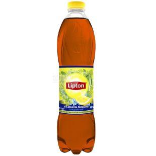 Lipton, 1,5 л, холодний чай, Чорний, Зі смаком лимону, ПЕТ