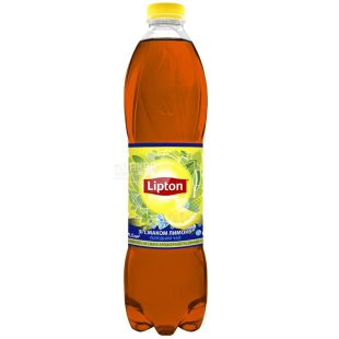Lipton, 1,5 л, холодный чай, Черный, Cо вкусом лимона, ПЭТ