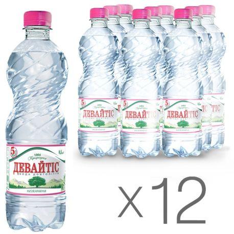 Девайтис, 0,5 л, Упаковка 12 шт., Вода минеральная негазированная, ПЭТ
