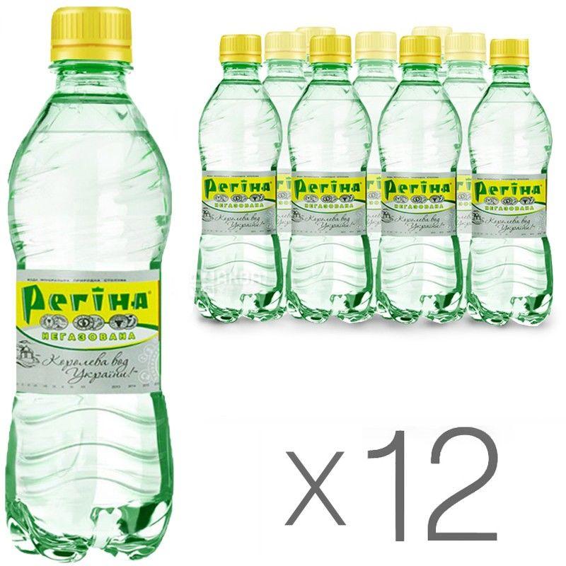Регина, 0,33 л, Упаковка 12 шт., Вода негазированная минеральная, ПЭТ