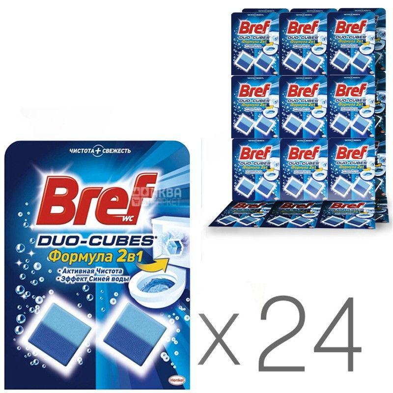 Bref Duo-Cubes, 2х50 г, упаковка 24 шт., Чистящее средство, Для унитаза
