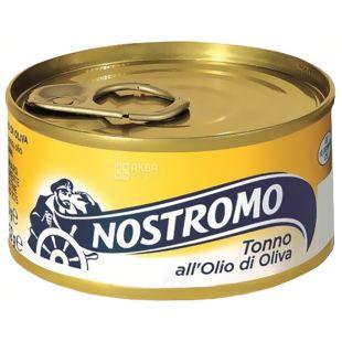 Nostromo, 80 г, тунец, В оливковом масле, ж/б