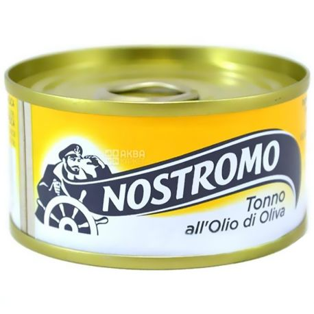 Nostromo, 80 г, тунець, В оливковій олії, ж/б