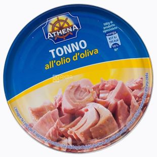 Athena, 160 g, tuna, In olive oil, w / w