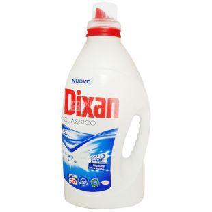 Dixan, 1,95 л, жидкий стиральный порошок, Classico, ПЭТ