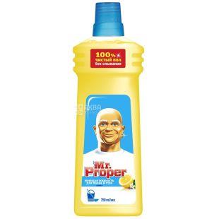 Mr. Proper, Средство для мытья полов и стен, Лимон, 750 мл