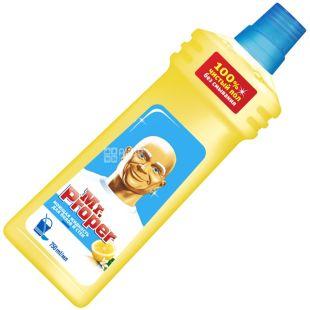 Mr. Proper, 750 мл, засіб для миття підлоги та стін, Лимон, ПЕТ