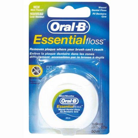 Oral-B, Essential floss, 50 м, Зубная нить