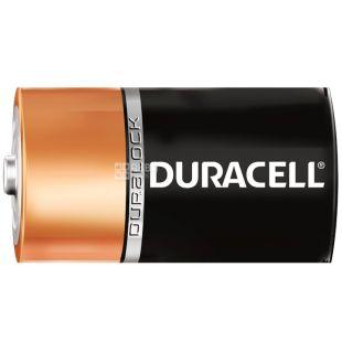 Duracell, 2 pcs., D, batteries, m / s