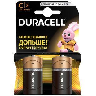 Duracell, 2 pcs., C, batteries, m / y