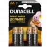 Duracell, 4 шт., батарейки AA