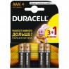 Duracell, 4 шт., ААА, батарейки, м/у