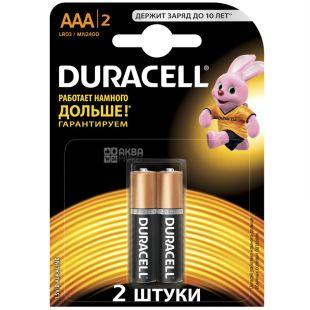 Duracell, 2 шт., AAА, батарейки, м/у