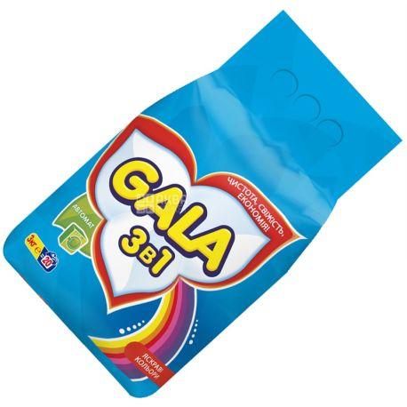 Gala, 3 кг, стиральный порошок, Автомат, Яркие цвета