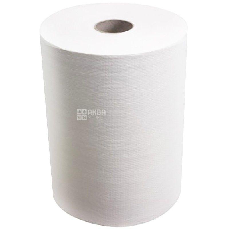 Skott, 165 м, бумажные полотенца, Slimroll, Белые, Однослойные, м/у