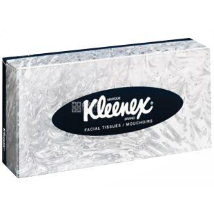 Kleenex, 100 шт., серветки для обличчя, Стандартні, Білі, м/у