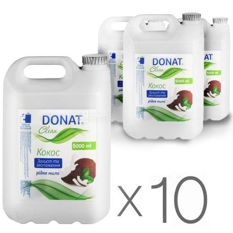 Donat, упаковка по 10 шт., по 5 л, Мыло для рук, Кокос