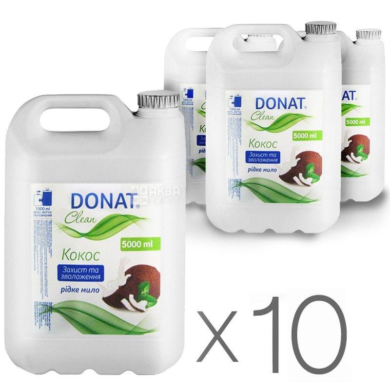Donat, 5 л, мило для рук, упаковка по 10 шт., Кокос
