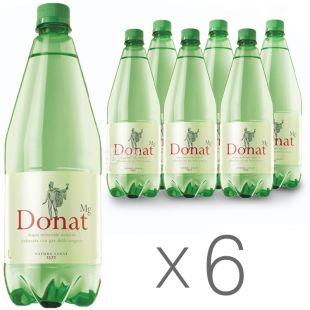 Donat Mg, pack of 6 pcs. 1 l each, carbonated water, PET, PAT