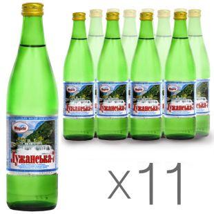 Лужанская-7, 0,5 л, Упаковка 11 шт., Вода минеральная газированная, стекло