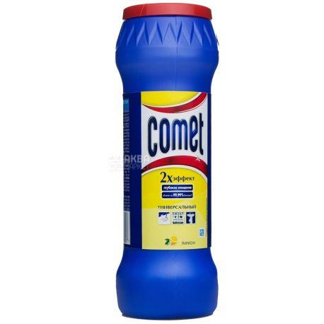 Comet, Очищуючий порошок, Універсальний, Подвійний ефект, Лимон, 475 г