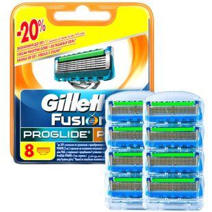 Gillette, 8 шт., змінні касети, Fusion ProGlide Power