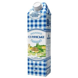 Peasant, 950 g, 2,5%, Milk, Special, Ultrapasteurized