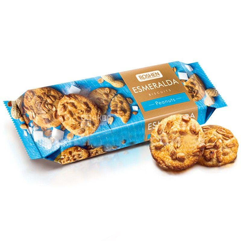 Roshen, 150 г, печиво, з арахісом, Esmeralda