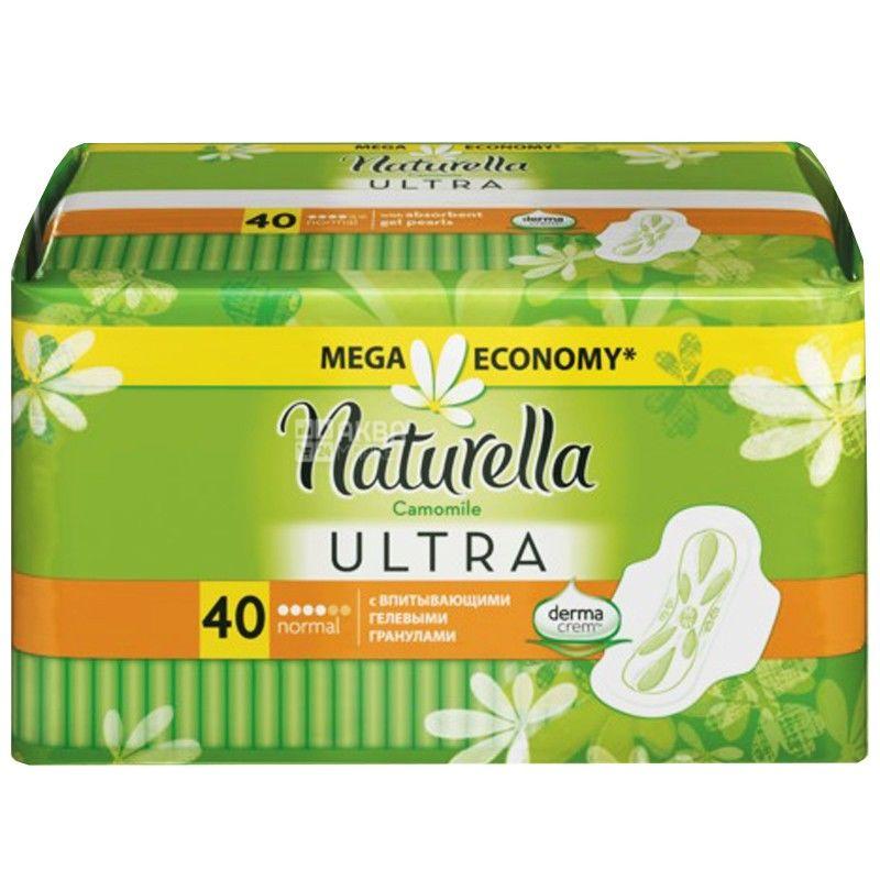 Naturella, 40 шт., прокладки гигиенические, Ultra Camomile, ароматизированные, м/у