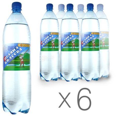 Поляна Квасова, упаковка 6 шт. по 1,5 л, газированная вода, ПЭТ