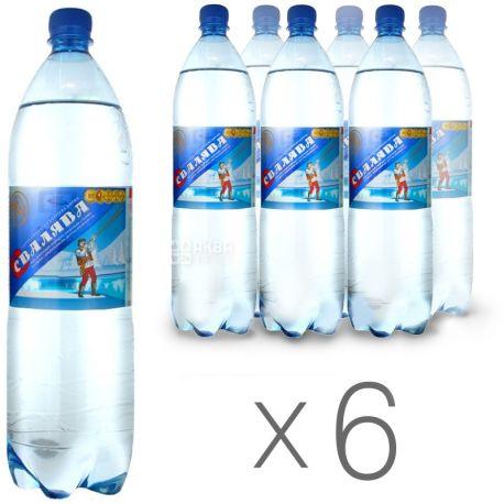 Свалява, 1,5 л, Упаковка 6 шт., Вода сильногазированная, ПЭТ