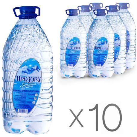 Прозора, 6 л, Упаковка 10 шт., Вода минеральная негазированная, ПЭТ