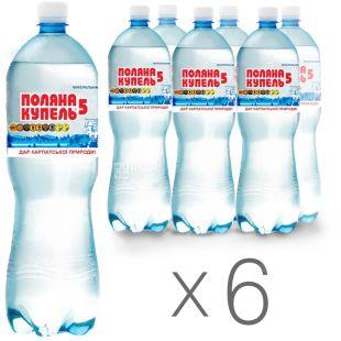 Поляна Купель-5, 1,5 л, Упаковка 6 шт., Вода минеральная газированная, ПЭТ